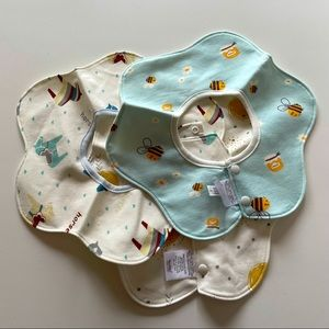 3 Baby 360 Rotating Bibs Age 0-24 Months NWT